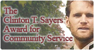 The Clinton T. Sayers Award for Community Service at TCS