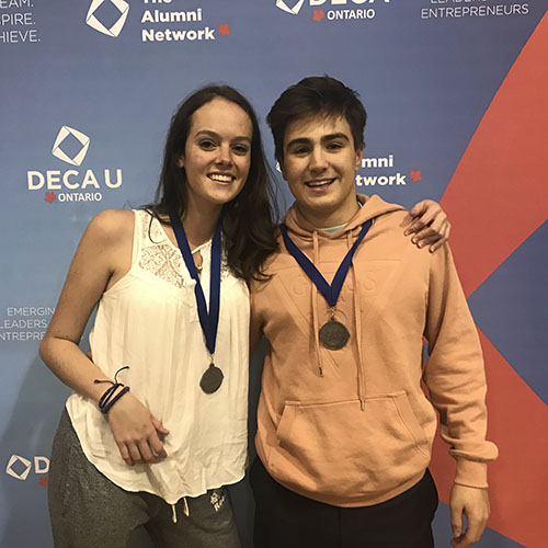 Five students earn provincial DECA berths | Trinity College