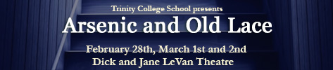 TCS presents Arsenic and Old Lace, February 28th to March 2nd