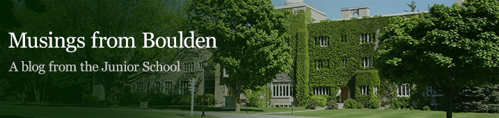 Musings from Boulden: A blog by the Head of Junior School