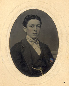 Tintype photograph (unidentified student between 1865-1868)