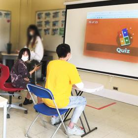Cultural Awareness Group members have fun learning with a Kahoot quiz