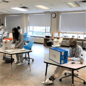 Grade 12 Students Work on Stop Motion Videos