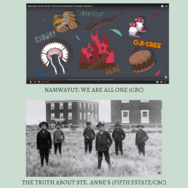 Videos used in the Canadian History course to teach Truth & Reconciliation